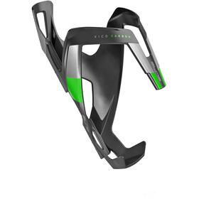 Elite Vico Flaschenhalter carbon schwarz matt/grüne Grafik